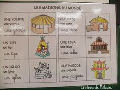 Les maisons du monde French Classroom, Engineering Projects, Education Architecture, Preschool Kindergarten, Social Studies, Montessori, Habitats, Literacy, Culture