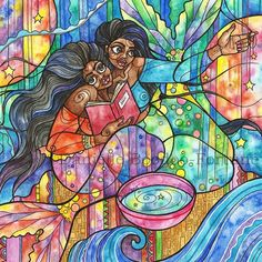 If you swim effortlessly in the deep oceans, ride the waves to and from the shore, if you can breathe under water and dine on the deep treasures of the seas; mark my words, those who dwell on the rocks carrying nets will try to reel you into their catch. ~ c.joybell c  Where You Go when You Dream, 2015 #watercolor #mermaid #ink #art #goddess #ocean #divinefeminine #selflove #selfcare #nofilter