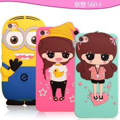 Lenovo S60 Case Cover Cute 3D Silicon Cartoon Back Covers For Lenovo S60T S60-t Cases Cell Phone Protection Shell Capa Funda