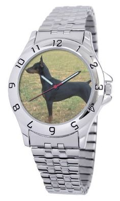 American Kennel Club Men's D1706S243 Doberman Pinscher Silver-Tone Expansion Band Watch American Kennel Club. $29.99. Durable mineral crystal. Water-resistant to 99 feet (30 M). Officially licensed American kennel club breed artwork. Expansion band bracelet. Precise, high-quality Japanese-quartz movement