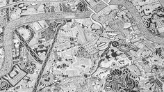 This hand-drawn map of London took ten years to finish