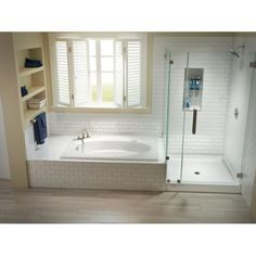 "Jacuzzi CAY6034SCXXXX Cayman 60"" x 34"" Shower Base with Single Threshold and Cen Black Showers Shower Pans Rectangular"