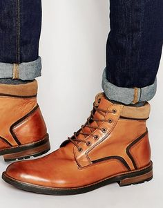 Dune | Dune Lace Up Boots In Tan Leather