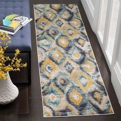 Shop for Safavieh Monaco Vintage Watercolor Blue/ Multicolored Distressed Runner (2' 2 x 10'). Get free shipping at Overstock.com - Your Online Home Decor Outlet Store! Get 5% in rewards with Club O! - 20016501