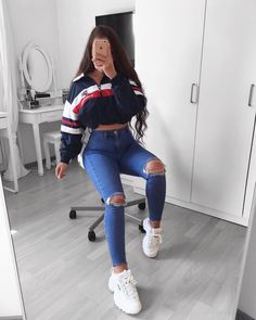 jugendkleidungsstil jugendkleider uk teenager mode tragen teenager 2019032 - The world's most private search engine Best Casual Outfits, Teen Fashion Outfits, Swag Outfits, Fashion Wear, Girl Outfits, Fashionable Outfits, Ladies Fashion, Spring Outfits, Urban Chic Outfits