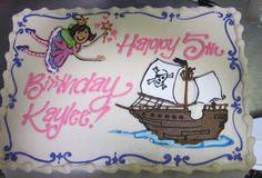 Fairy Girl Pirate Ship cake #icingonthecakelosgatos