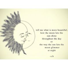 love sun moon quotes  | via Tumblr