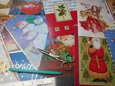 recycle Christmas cards for next year's boxes