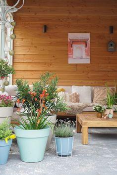 elho plantenbakken tuin Spring Garden, Home And Garden, Summer Design, Indoor Outdoor Living, Planter Pots, Design Inspiration, Exterior, Garden Design, Patio
