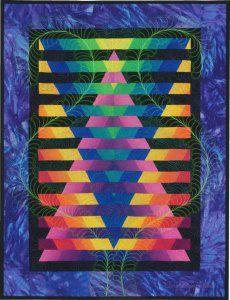 Illusion 2010 Art Quilt by Caryl Bryer Fallert, Paducah KY Bargello Quilt Patterns, Quilt Block Patterns, Quilt Blocks, Quilting Projects, Quilting Designs, Quilting Ideas, Quilt Modernen, Quilt Stitching, Star Quilts