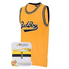 ea0aff30126c Aflgo  badboy 72  smalls  basketball jersey  yellow  notorious  biggie  stitched top