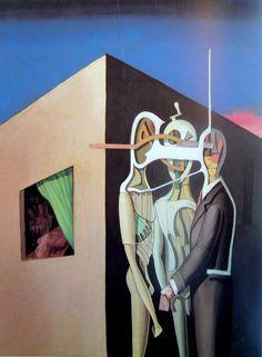 Conspiration by Victor Brauner Victor Brauner, Art Database, Realism Art, Illustrations, Vintage Comics, Fantastic Art, Surreal Art, Oil On Canvas, Victoria
