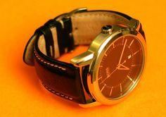 Bracelet Cuir noir en veau pour une Hugo Boss