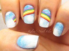 Kelsie's Nail Files: Day 9: RAINBOW nails