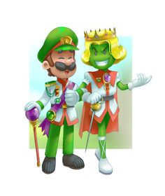 Uh so I've been working on this for like three days lmao I was just wondering what Luigi would look like in royal Beanbean Kingdom attire… for ya know… reasons