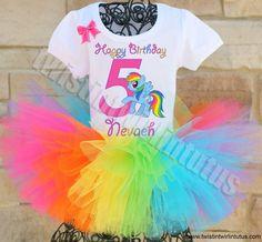 My Little Pony Birthday Outfit | My Little Pony Birthday Party Ideas | Birthday Party Ideas for Girls | Twistin Twirlin Tutus #mylittleponybirthday