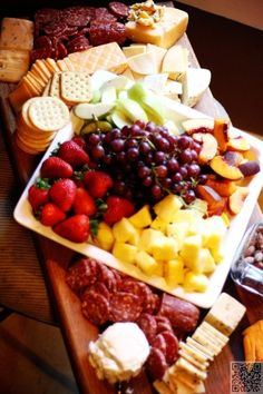 2. Add Some #Fruit - 17 Cheese and Crackers #Ideas You're Going to Love ... → Food #Crackers