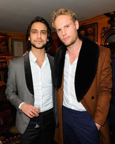 Luke Pasqualino and Jack Fox gave us their best Blue Steel at a party | 34 Pictures of Hot British Actors Being Hot Together | POPSUGAR Celebrity UK