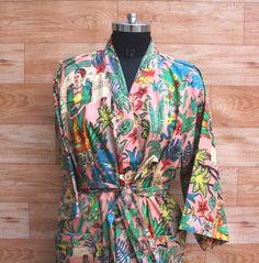 Beach Kimono, Kimono Dress, Kimono Jacket, Kimono Style, Cotton Kimono, Cotton Jacket, Kimono Fashion, Women's Fashion, Beautiful Outfits