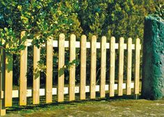 Clôture jardin simple en bois