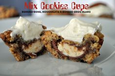 Mix Cookies Cups { {Battle Food #18} | Cooking N Co Biscuits, Cook N, Cookie Cups, Cookie Recipes, French Toast, Eat, Breakfast, Desserts, Battle