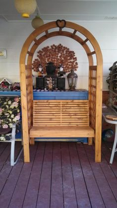 Wedding arch and guest book bench - Woodworking creation by Papa Time