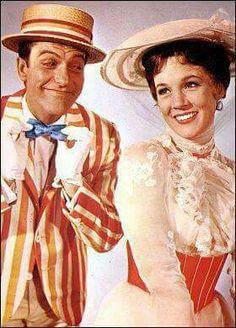 Dick Van Dyke & Julie Andrews...Mary Poppins released August 26, 1964