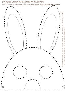 FREEBIE: Printable Easter Bunny Masks