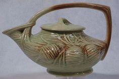 446: McCoy Pottery Pinecone Teapot With Lid : Lot 446