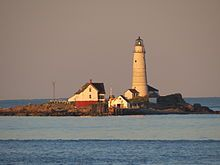 Boston Light - The nation's second oldest standing lighthouse, Boston Light was built on the site of the first lighthouse in what is now the United States. It is the only lighthouse permanently staffed by the United States Coast Guard.