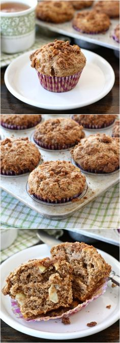 Apple Cinnamon Crumb Muffins on twopeasandtheirpod.com Love these easy fall muffins! #recipe #apple