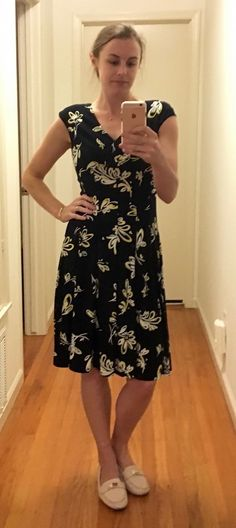 Ralph Lauren navy dress with floral pattern TJ Maxx