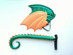 Green and Orange Dragon Wings and Tail set dragon costume Toothless Costume, Dragon Costume, Diy Costumes, Halloween Costumes, Sewing Toys, Halloween 2018, 4 Kids, Green And Orange, Turquoise Bracelet