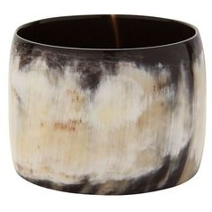Nest Dark Horn Wide Bangle ($150) ❤ liked on Polyvore featuring jewelry, bracelets, brown, wide bangle, brown jewelry, hinged bangle, bracelets bangle and bangle jewelry Plastic Jewelry, Resin Jewelry, Bangle Bracelets, Bangles, Crystal Beads, Crystals, African Jewelry, Horns, Fashion Jewelry