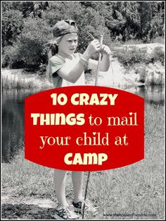 Things to mail your child at Summer Camp 10 Crazy Things to mail your child at Sleep Away Camp [ the House of Hendrix ] This has inspired a care package for me to send my old camp buddy who is all grown with kids of her own! Camp Scout, Girl Scout Camping, Camp Letters, Camp Care Packages, Camp Buddy, Sleepaway Camp, K Om, Survival, To Infinity And Beyond