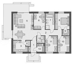 4 Bedroom House Plans, House Floor Plans, Design Case, Planer, Future House, Sweet Home, Cabin, How To Plan, Architecture