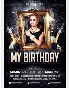 The 26 best birthday party flyer template images on pinterest birthday party invitation flyer template party flyer templates for clubs business marketing free birthday maxwellsz