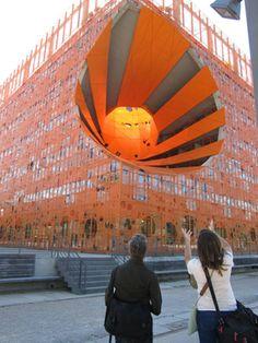 Exploring Jakob+Macfarlane's Orange Cube Project in Lyon. BAC #Paris Summer Program. #travel