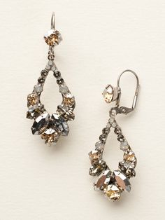 Adornment Earring in Golden Shadow by Sorrelli - $85.00 (http://www.sorrelli.com/products/ECQ29ASGNS)