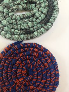 Wrapping and binding samples based on textile artist, Tanvi Kant. - Sophie Loughlin