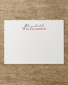 25 Two-Tone Correspondence Cards with Personalized Envelopes, Fucshia/Mocha Ink - Neiman Marcus