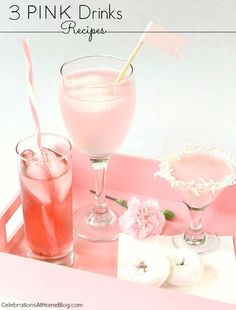 3 pink drink recipes for your pink party