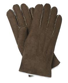 Men's Sheepskin Gloves - brown