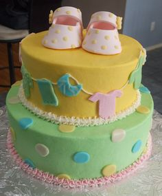 baby shower with shoe topper
