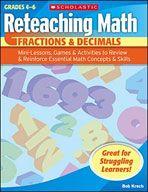 Reteaching Math: Fractions & Decimals. Download it at Examville.com - The Education Marketplace. #scholastic @Karen Echols #teachers #teaching #elementaryschools #teachercreated #ebooks #books #education #classrooms #commoncore #examville