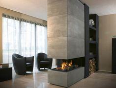 Kamin & Alpina Rost-optik | Inspiration Wohnzimmer | Pinterest ... Wohnzimmer Modern Kamin