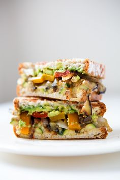 """""""Grilled Vegetable Sandwiches with Avocado or Balsamic & Mozzarella"""" 