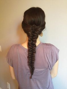Fishtail braid with a twist. Easy but so cute to do
