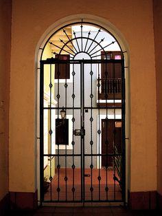 ornate gate in Old San Juan