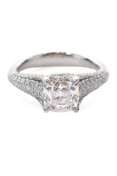 Precision Set Elege 1.70ct G,SI2 & .85ctw Diamond Ring | Oster Jewelers